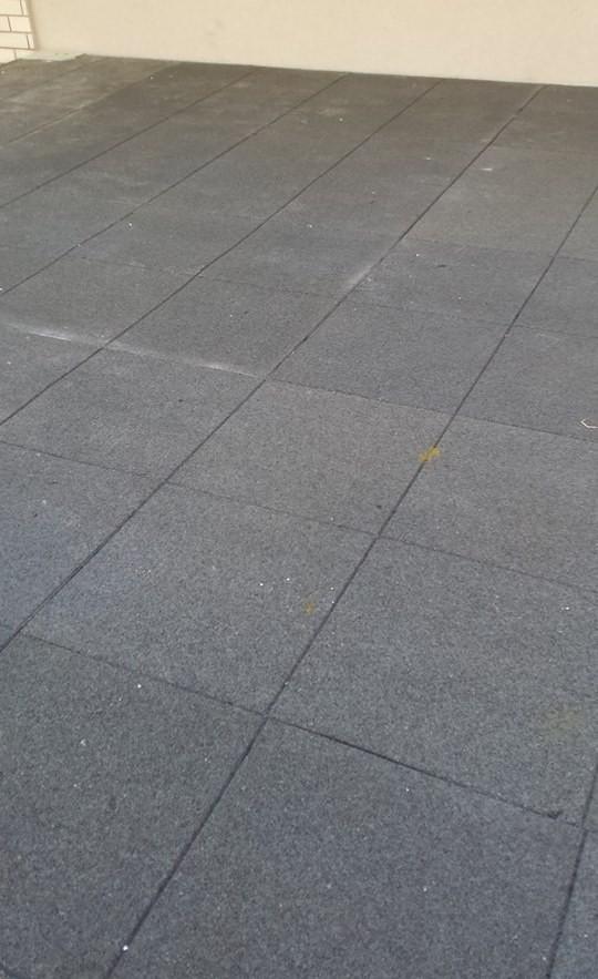 מקורי אריחי גומי ממוחזר מצמיגים -בולמי נפילה | בולמים אקוסטיים לרצפה HU-96