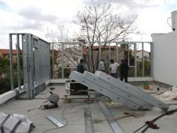 שלד פלדה לתוספת בניה על גג