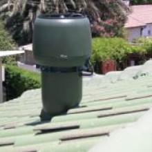 מפוח חשמלי מוריד חום בגגות