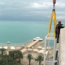 תוספת מרפסת - מלון לוט - ים המלח