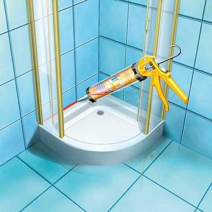 איטום במקלחת